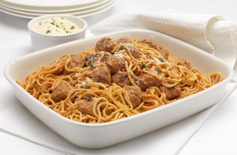 Spaghetti with sausage meatballs recipe (0089)
