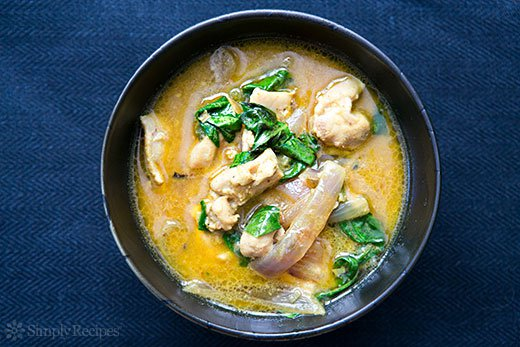 Basil Chicken in Coconut Curry Sauce (0091)