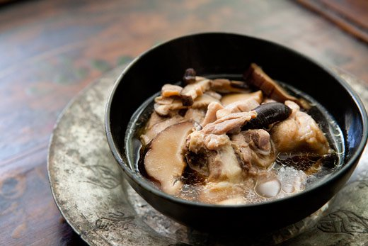 Chicken Soup with Ginger and Shiitake Mushrooms (0096)