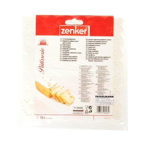 12 Doilies Paper White 40*20Cm Bag - 1