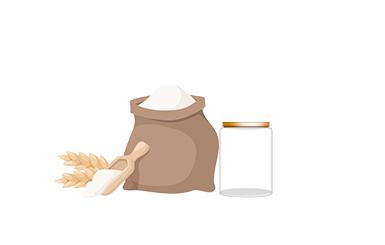 Sugar, Starch & shortening