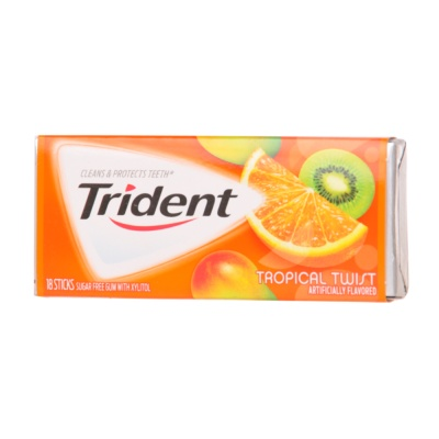 Trident Tropical Chewing Gum 18pcs