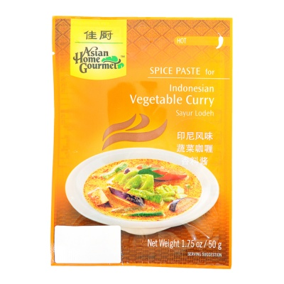 Asian Home Gourmet Indonesian Vegetable Curry Spice Paste 50g
