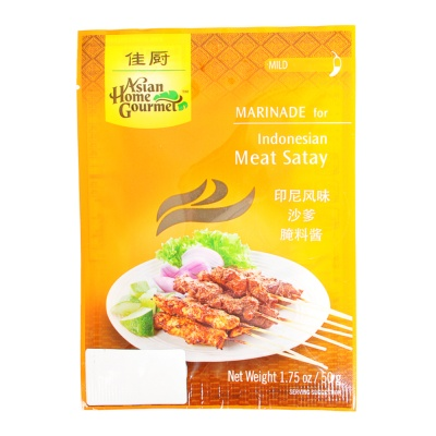 Asian Home Gourmet Indonesian Meat Satay Marinade 50g