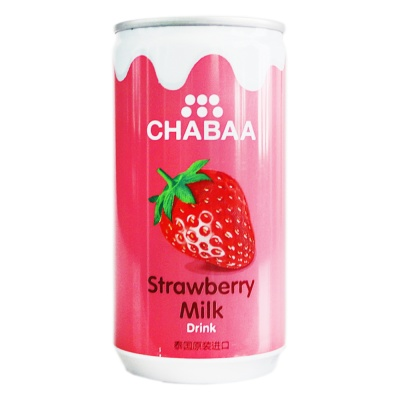 Chabaa Strawberry Milk Flavor Drink 170ml