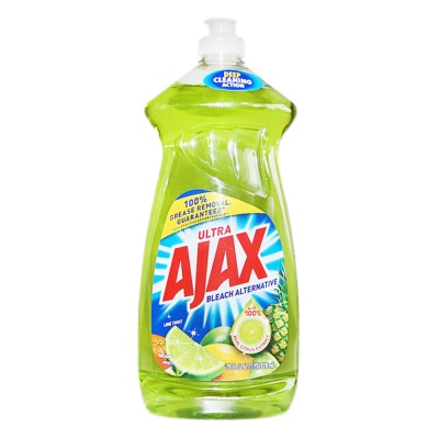 Ajax Tableware Cleaner Bleach Alternative (Lime Twist) 828ml
