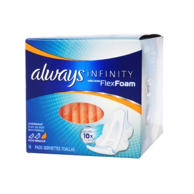 Always Infinity Flex Foam Overnight Pads 14ct