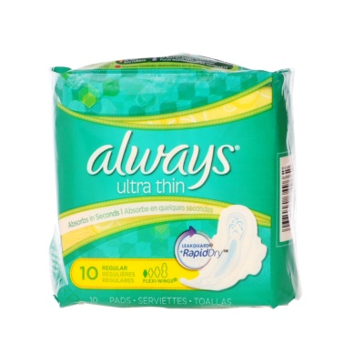 Always Ultra Thin Regular Pads 10ct