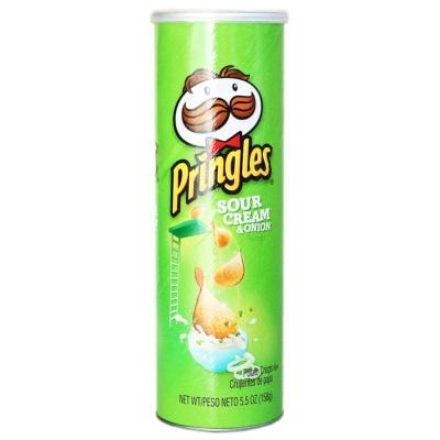 Pringles Sour Cream & Onion Flavored Potato Crisps 158g