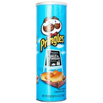 Pringles Salt & Vinegar Flavored Potato Crisps 158g