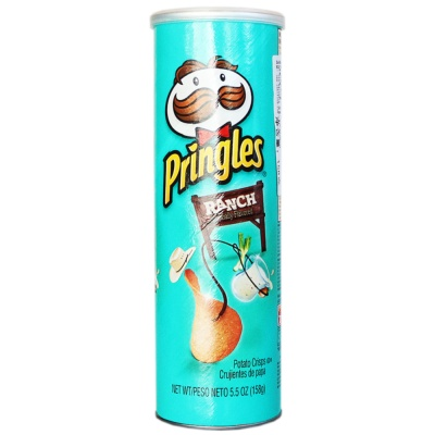 Pringles Ranch Artificially Flavored Potato Crisps 158g