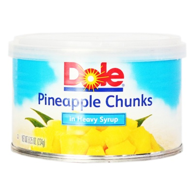 Dole Canned Pineapple In Heavy Syrup 234g