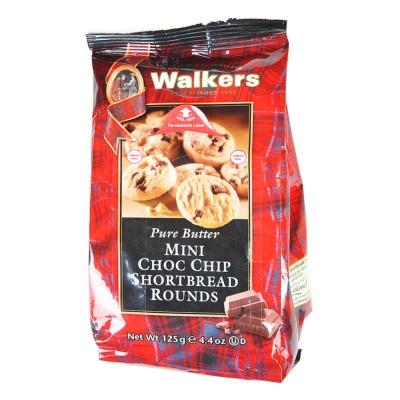 Walkers Mini Chocolate Chip Shortbread 125g