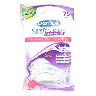 Dentek Comfort Clean Floss Picks Easy Reach 75p