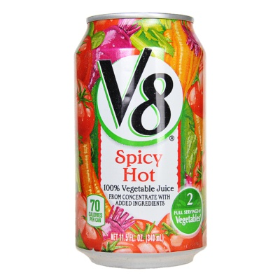 V8 Spicy Hot 100% Vegetable Juice 340ml