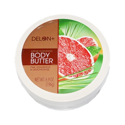 Delon Pink Grapefruit & Lemongrass Body Butter Cream 196g