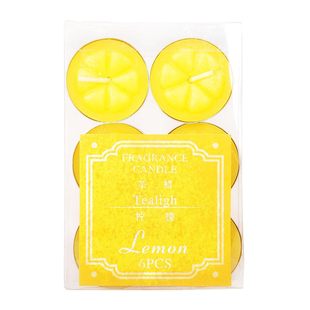 6杯芳香蜡(柠檬)