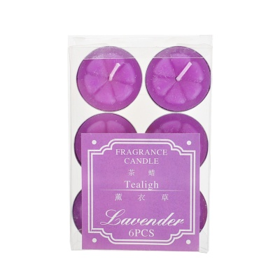 Tealigh Lavender Fragrance Candle 6pcs