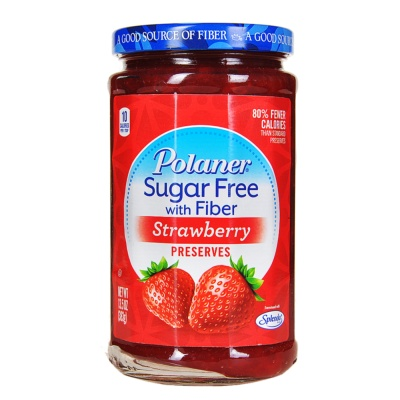 Polaner Sugar Free With Fiber Seedless Strawberry Preserves 383g
