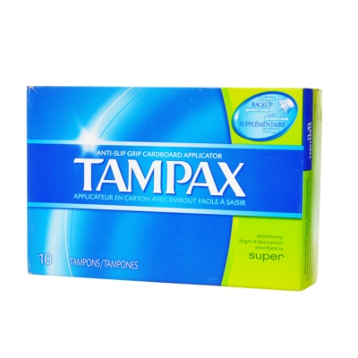 Tampax Flushable Cardboard Tampons, Super 10pcs