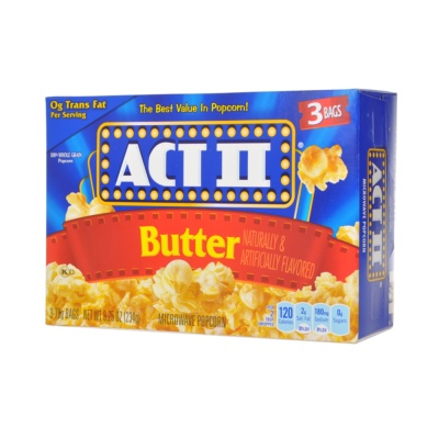 Act Butter Microwave Popcorn 3*78g