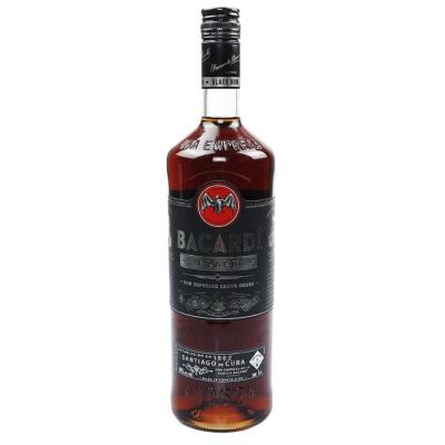 百加得黑朗姆酒 1L