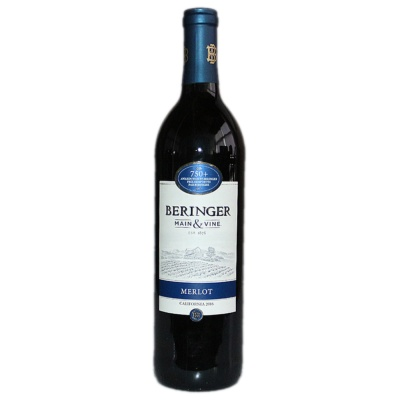 Beringer Main&Vine Merlot California Red Wine 750ml