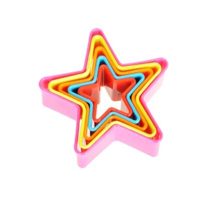 正的五角彩色饼干压模
