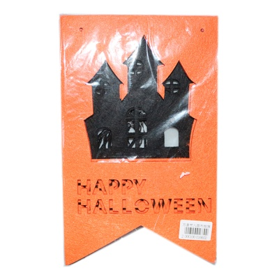 Halloween octagonal cloth hanging flag