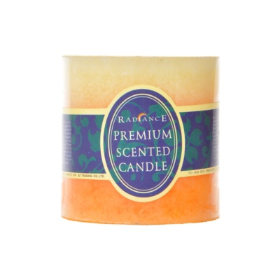 Color Gradient Lemon Scented Candle