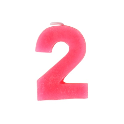数字2蜡烛