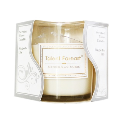 Scented Galss Candle Magnolia Lily