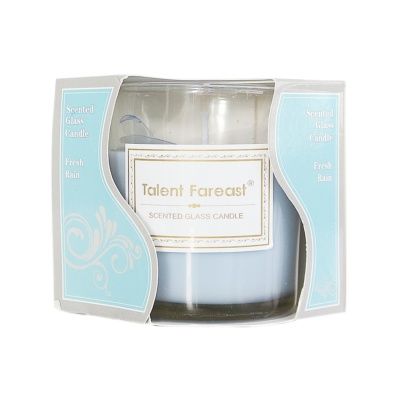 Scented Galss Candle Fresh Rain