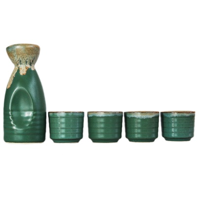Japanese-Style Ceramic Jug&Cups-Small Drunk