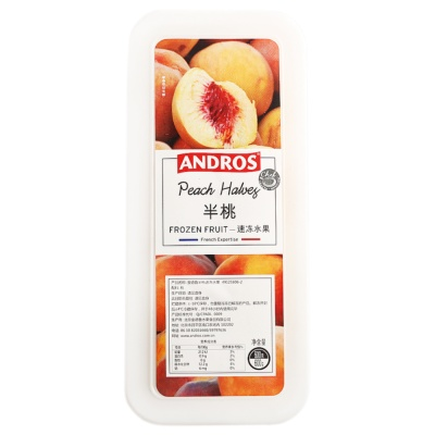 Andros Peach Halves Frozen Fruit 600g