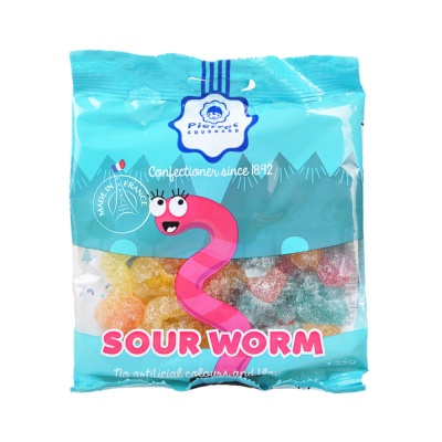 Pierrot Gourmand Sour Worm Candy 125g