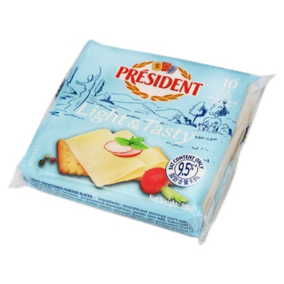 President Light Processed Cheese 10 Slices 200g