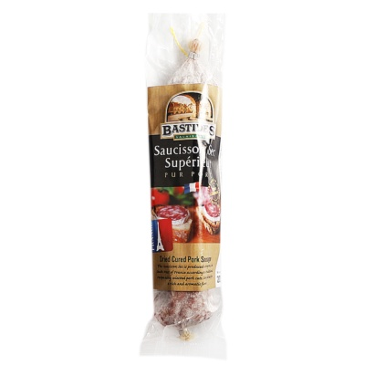 Bastides Straight Dry Cured Short Sausage 200g