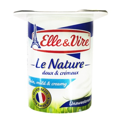 E&V Plain Unsweetened Dairy Dessert 125g
