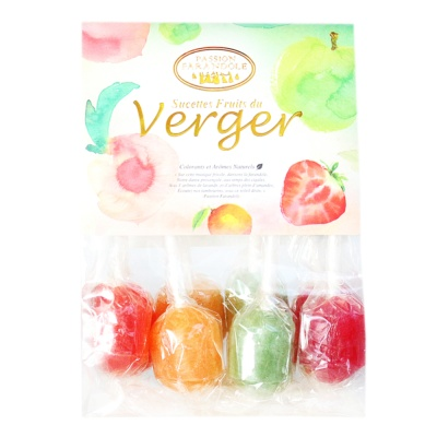 Passion Farandole Sucettes Fruits Du Verger 80g