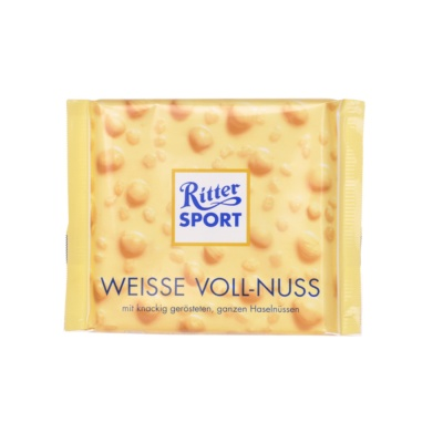 Ritter Sport Whole Hazelnuts White Chocolate 100g