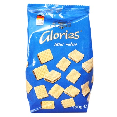 Glories Mini Wafers Biscuits 150g