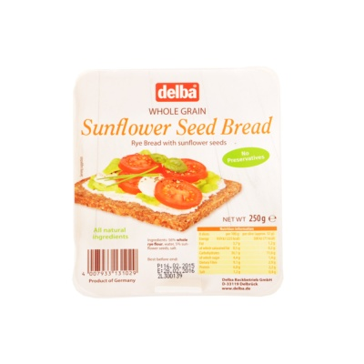 Delba Sunflower Seed Bread 250g