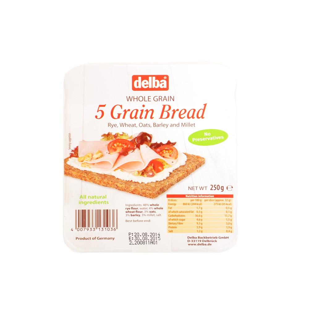Delba 5 Grain Rye Bread 250g