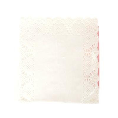 法克曼12支装白色纸小长方糕点桌巾 40*20cm 43536
