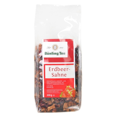 Bünting Tee Strawberry & Cream Tea 200g