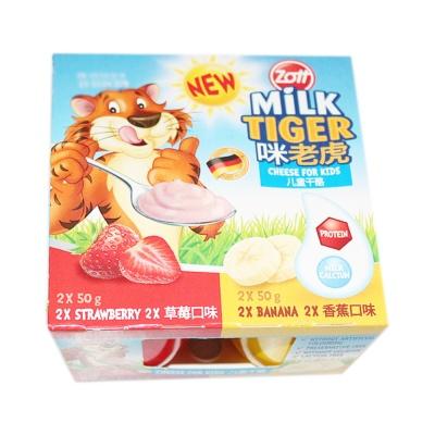 卓德咪老虎儿童鲜奶酪 (草莓+香蕉) 4*50g