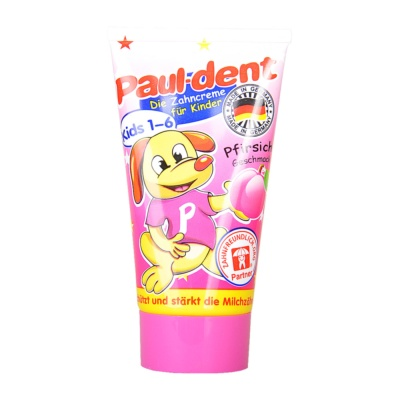 Paul-dent Honey Peach Edible Kid Toothpaste (1-6 years) 50ml