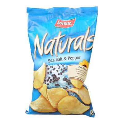 Lorenz Naturals Seasalt And Pepper Chips 100g
