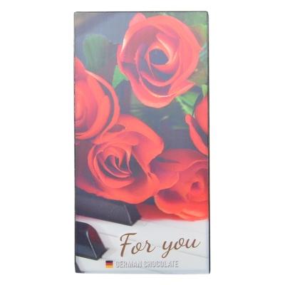 Tessi 50% Cocoa Dark Chocolate(Rose Gift Box) 100g